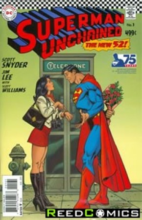Superman Unchained #1 (75th Anniversary Silver Age 1 in 50 Variant Cover)