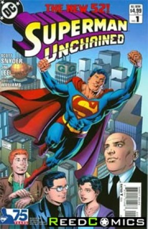 Superman Unchained #1 (75th Anniversary Modern Age 1 in 25 Variant Cover)