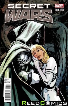 Secret Wars #3 (1 in 25 Coker Variant Cover)