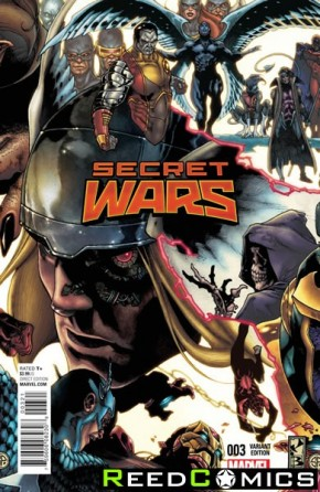Secret Wars #3 (1 in 20 Bianchi Connecting Variant Cover)