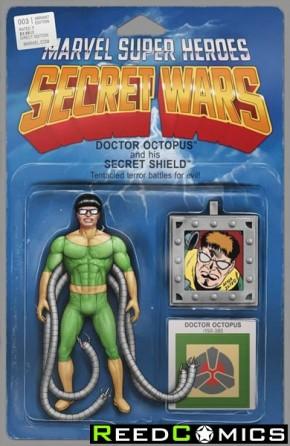 Secret Wars #3 (Christopher Action Figure Variant Cover)