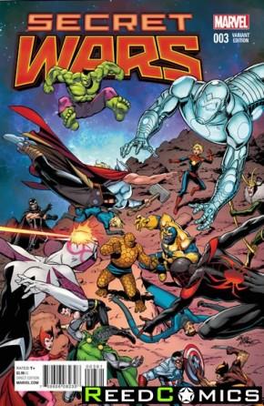 Secret Wars #3 (1 in 25 Mcleod Variant Cover)