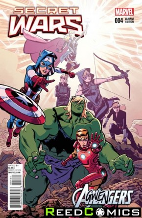 Secret Wars #4 (Agwengers Variant Cover)