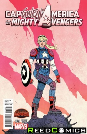 Captain America and the Mighty Avengers #9 (Capgwen America Variant Cover)