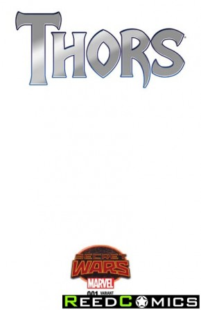 Thors #1 (Blank Variant Cover)