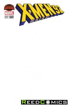 X-Men 92 #1 (Blank Variant Cover)