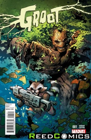 Groot #1 (1 in 25 Incentive Variant Cover)
