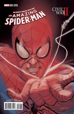 Civil War II Amazing Spider-Man #1 (Peter Parker Noto 1 in 10 Incentive Variant Cover)