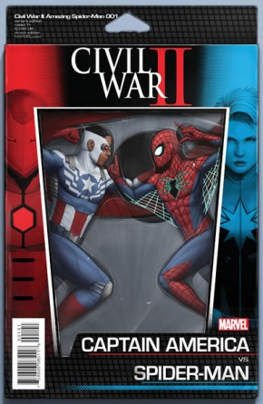 Civil War II Amazing Spider-Man #1 (Action Figure Variant Cover)