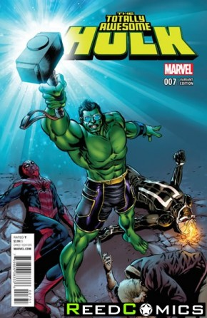 Totally Awesome Hulk #7 (Civil War Reenactment Variant Cover)