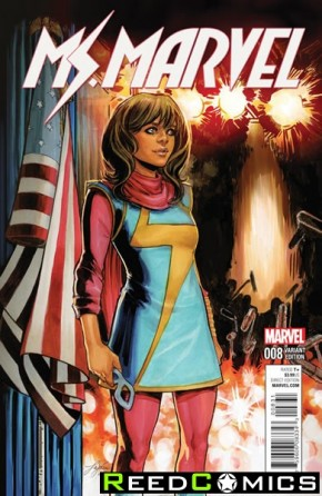 Ms Marvel Volume 4 #8 (Civil War Reenactment Variant Cover)