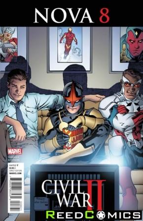 Nova Volume 6 #8 (Reenactment Civil War Variant Cover)