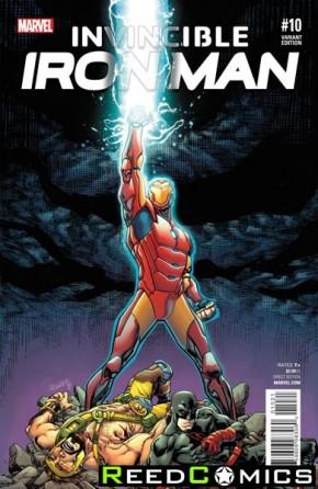 Invincible Iron Man Volume 2 #10 (Civil War Reenactment Variant Cover)