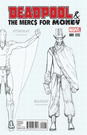 Deadpool Mercs for Money #5 (1 in 20 Hawthorn Design Incentive Variant Cover)