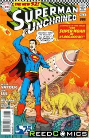 Superman Unchained #4 (75th Anniversary Silver Age 1 in 50 Variant Cover)