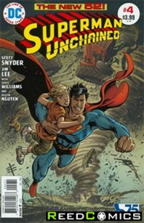 Superman Unchained #4 (75th Anniversary Bronze Age 1 in 50 Variant Cover)