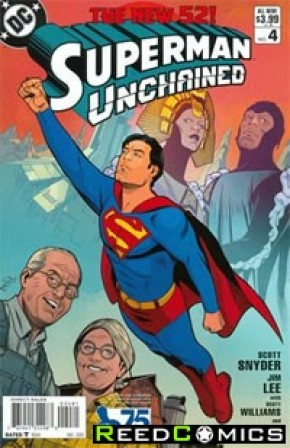 Superman Unchained #4 (75th Anniversary Modern Age 1 in 25 Variant Cover)