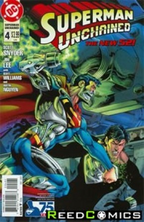 Superman Unchained #4 (75th Anniversary Superman Reborn 1 in 25 Variant Cover)