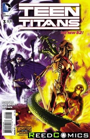 Teen Titans Volume 5 #3 (Monsters Variant Cover)