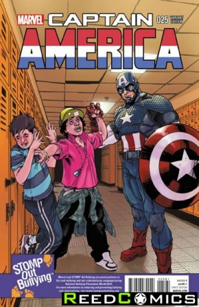 Captain America Volume 7 #25 ( 1 in 15 Stomp Out Bullying Incentive Variant Cover)