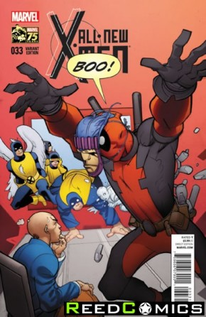 All New X-Men #33 (1 in 25 Deadpool 75th Anniversary Incentive Variant Cover)