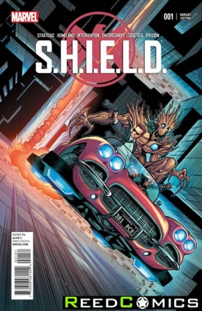 SHIELD Volume 4 #1 (Schiti Young Guns Variant Cover)