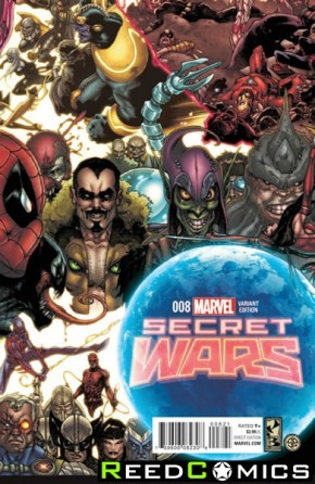 Secret Wars #8 (1 in 20 Bianchi Connecting Incentive Variant Cover)