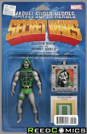 Secret Wars #8 (Christopher Action Figure Variant Cover)