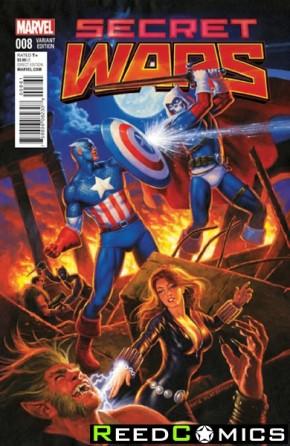 Secret Wars #8 (1 in 25 Hildebrandt Classic Incentive Variant Cover)