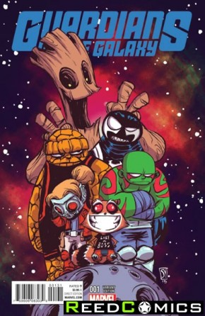 Guardians of the Galaxy Volume 4 #1 (Skottie Young Baby Variant Cover)