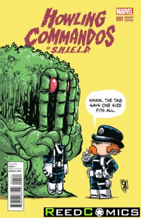 Howling Commandos of Shield#1 (Skottie Young Baby Variant Cover)