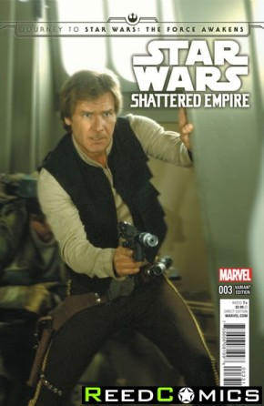 Journey to Star Wars The Force Awakens Shattered Empire #3 (1 in 25 Movie Incentive Variant Cover)