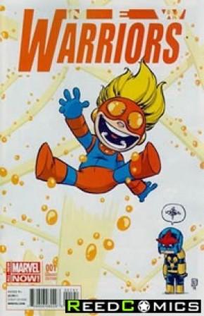 New Warriors Volume 5 #1 (Skottie Young Baby Variant Cover)