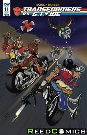 Transformers vs GI Joe #11 (Subscription Variant Cover)