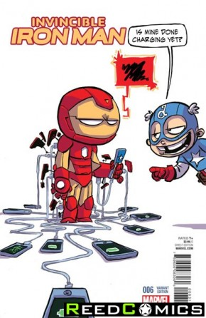 Invincible Iron Man Volume 2 #6 (Skottie Young Baby Variant Cover)