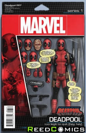 Deadpool Volume 5 #7 (Christopher Action Variant Cover)