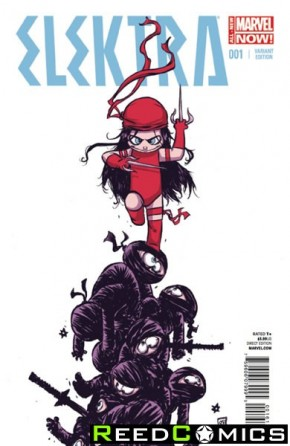 Elektra Volume 3 #1 (Skottie Young Baby Variant Cover)