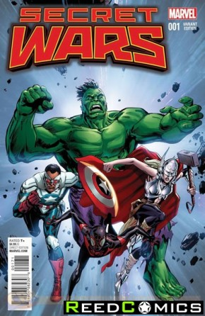 Secret Wars #1 (1 in 25 Guice Classic Variant Cover)
