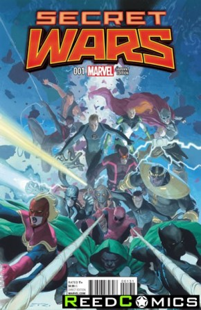 Secret Wars #1 (1 in 25 Ribic Promo Variant Cover)