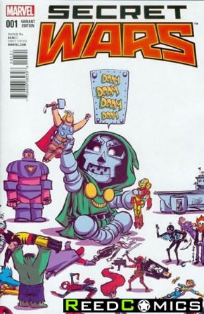 Secret Wars #1 (Skottie Young Baby Variant Cover)