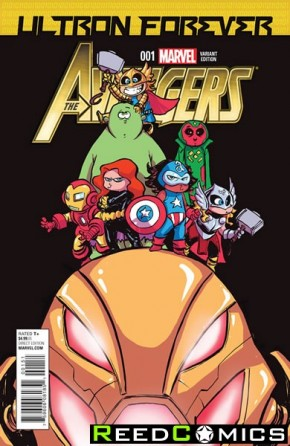 Avengers Ultron Forever #1 (Skottie Young Baby Variant Cover)