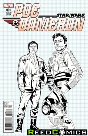 Star Wars Poe Dameron #1 (1 in 25 Noto Design Incentive Variant Cover)