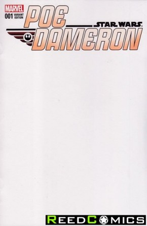 Star Wars Poe Dameron #1 (Blank Variant Cover)