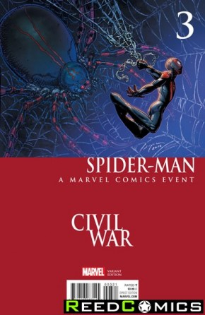 Spiderman Volume 2 #3 (Chin Civil War Variant Cover)