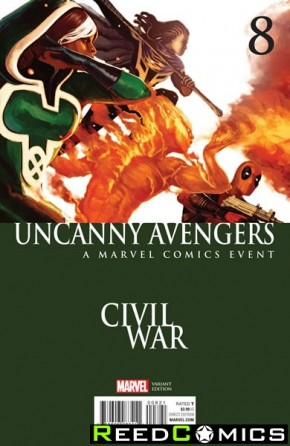 Uncanny Avengers Volume 3 #8 (Hans Civil War Variant Cover)