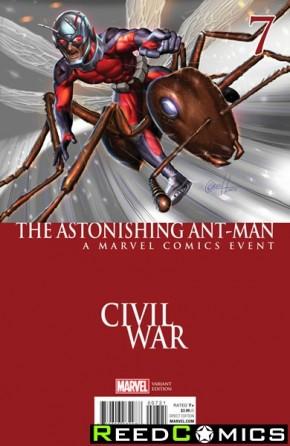 Astonishing Ant Man #7 (Horn Civil War Variant Cover)