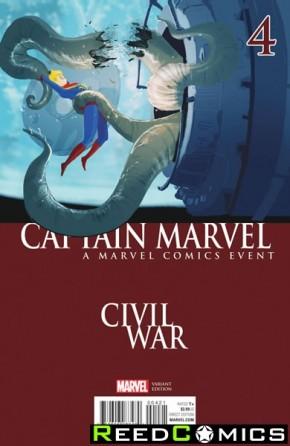 Captain Marvel Volume 8 #4 (Campion Civil War Variant Cover)