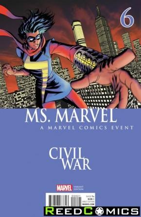 Ms Marvel Volume 4 #6 (McKone Civil War Variant Cover)