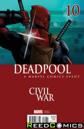 Deadpool Volume 5 #10 (Andrasofszky Civil War Variant Cover)
