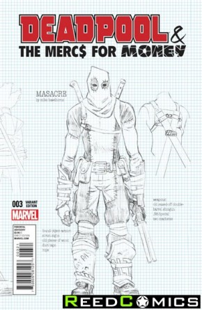 Deadpool Mercs for Money #3 (1 in 20 Hawthorn Design Incentive Variant Cover)